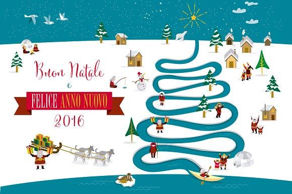 Christmas card 2016 italian illustrations creative market christmas card 2016 italian illustrations m4hsunfo