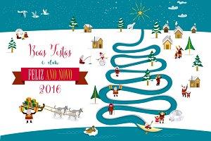 Christmas card 2016 (Portuguese)