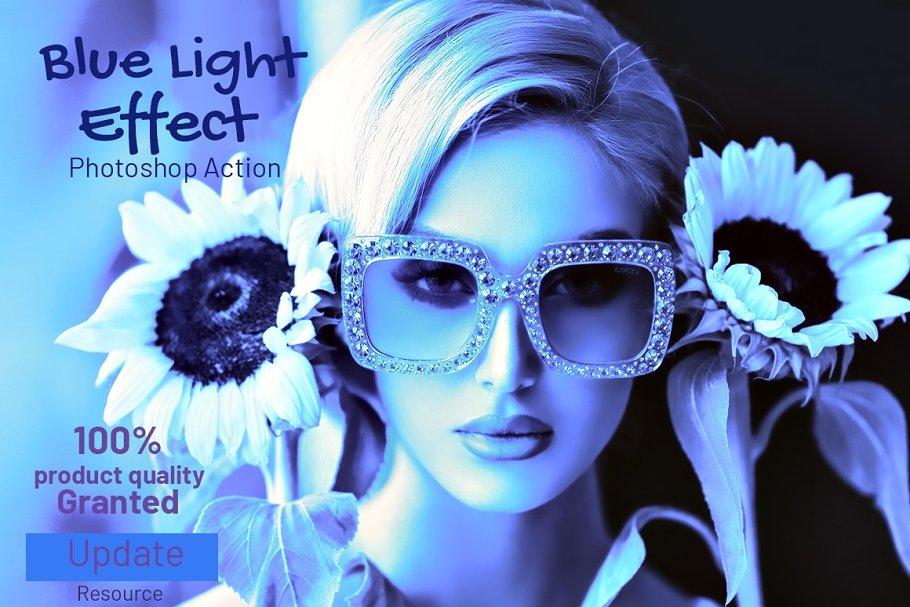 Blue Light Effect Photoshop Action