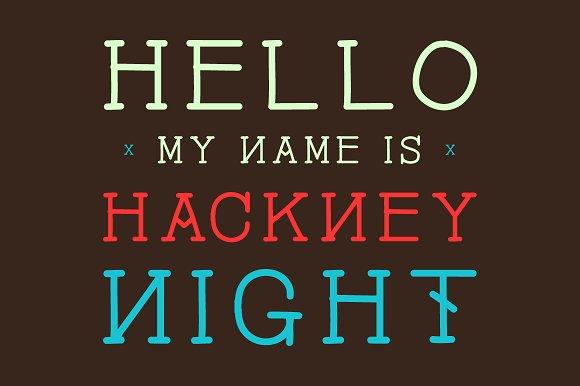 Hackney Night - Font