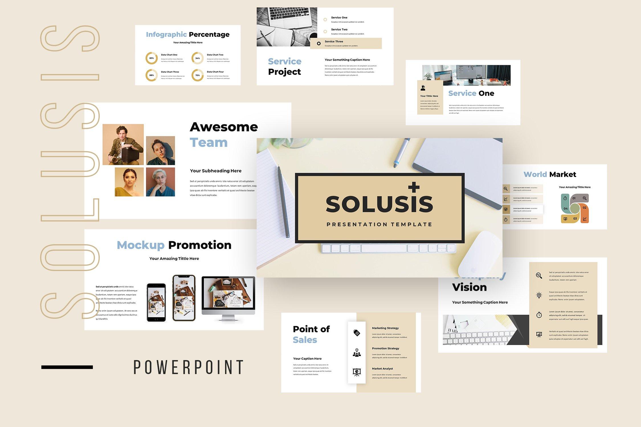 Solusis - Powerpoint Presentation ~ Presentation Templates