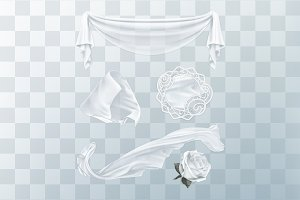 White cloth with transparency