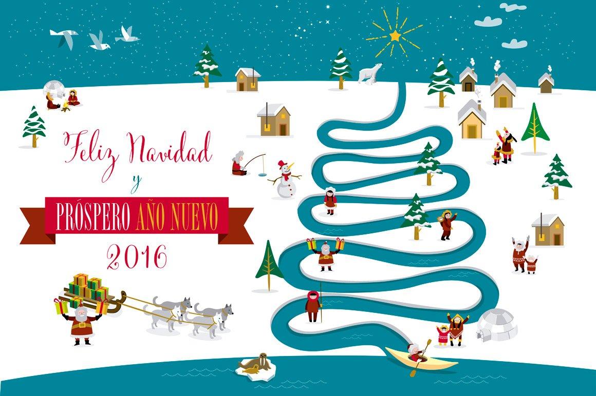 christmas card 2016 spanish illustrations creative market