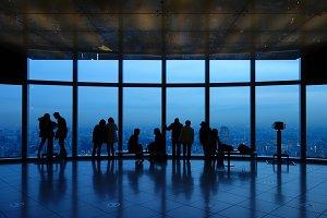 Couples Viewing Tokyo City at Dusk