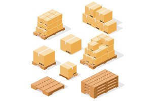 Industrial pallets and boxes for war