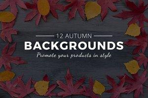 Autumn leaves background mockups