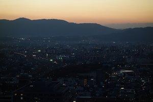 Kyoto City at Dusk