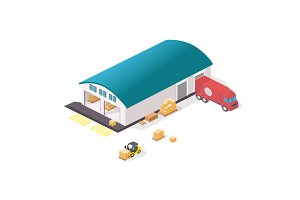 Warehouse isometric illustration