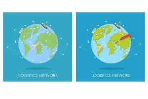 Mini planet concept. Logistics