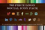 765 Piece Logo Social Icon Pack