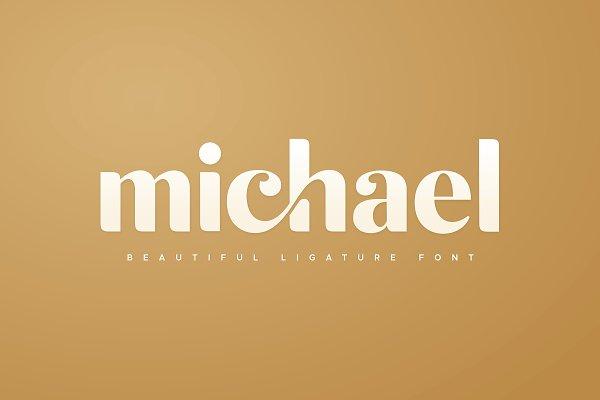 michael beautiful ligature font