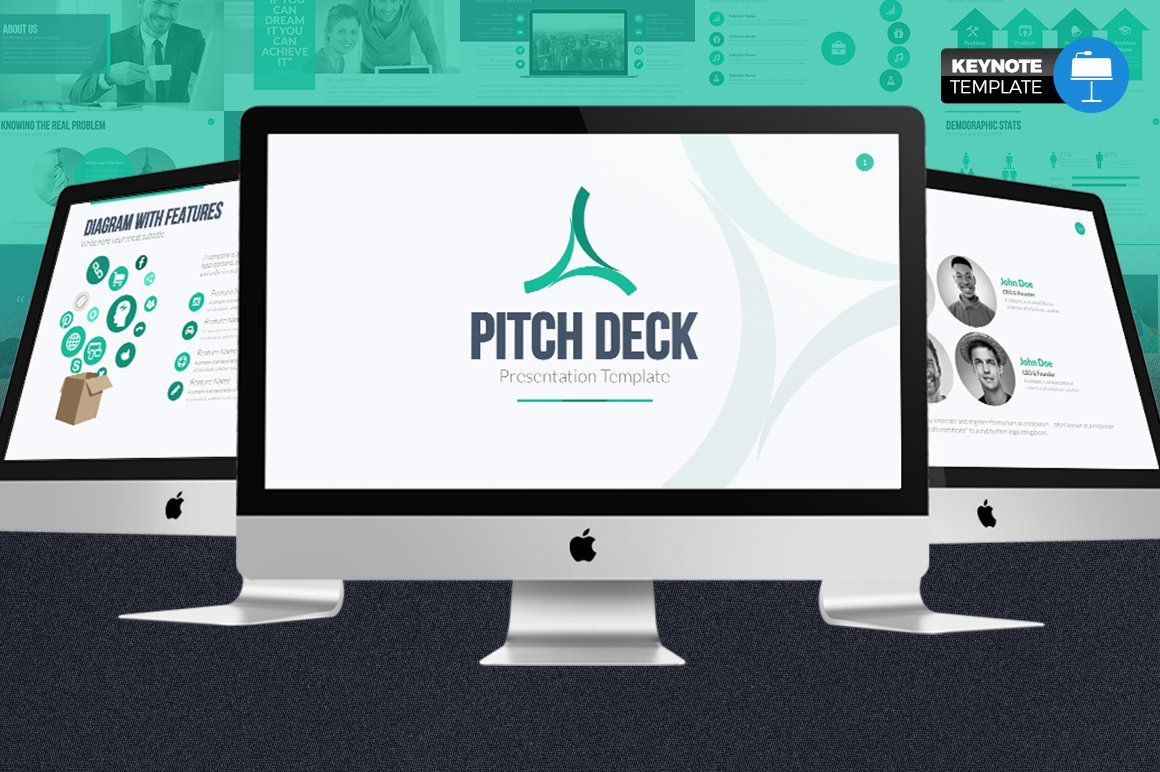 Pitch Deck Keynote Template Presentation Templates Creative Market - Keynote deck templates