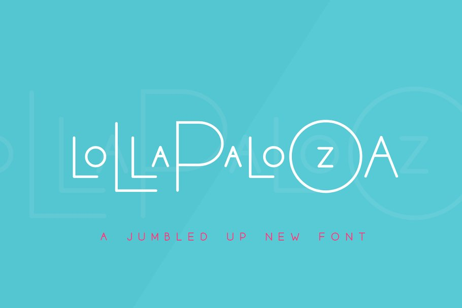 Best The Lollapalooza Font Trio Vector