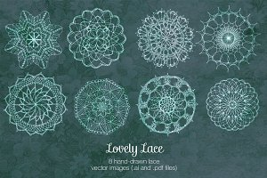 Lovely Lace vector illustrations