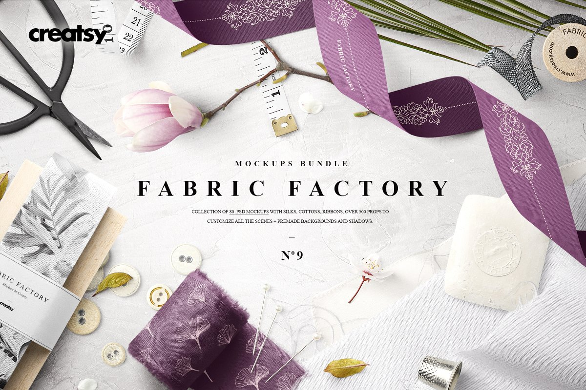 Fabric Factory v.9 Mockup Bundle