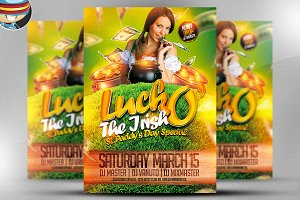 Luck O' The Irish Flyer Template