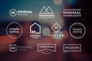 10 Minimalistic Logos Vol. 1