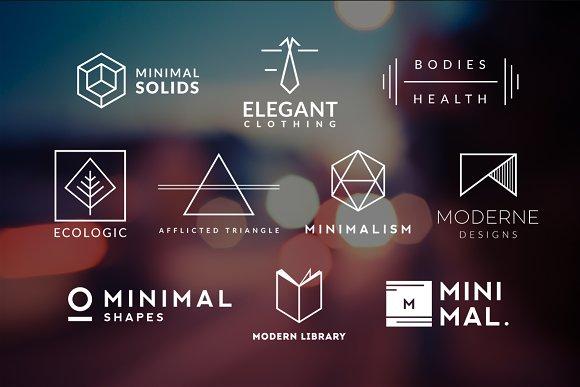 10 Minimalistic Logos Vol. 5 - Logos