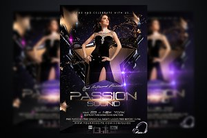 Passion Sounds Party Flyer Template
