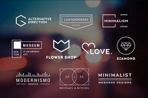 10 Minimalistic Logos Vol. 9