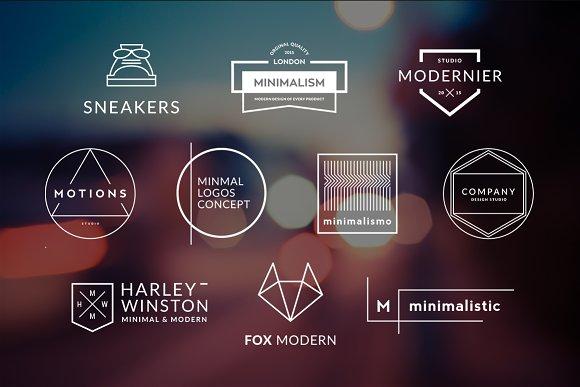 10 Minimalistic Logos Vol. 10 - Logos