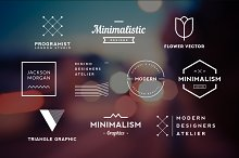 10 Minimalistic Logos Vol. 12