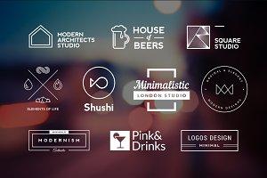 10 Minimalistic Logos Vol. 17