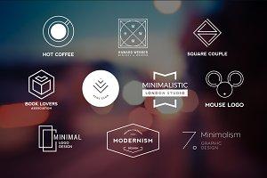 10 Minimalistic Logos Vol. 18