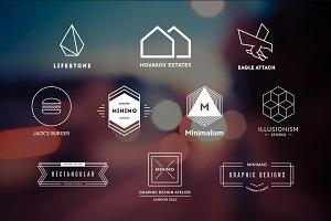 10 Minimalistic Logos Vol. 19