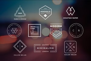 10 Minimalistic Logos Vol. 20