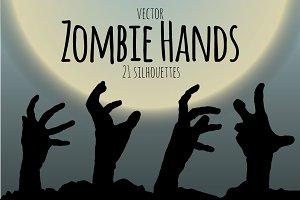Zombie Hand Silhouette Set