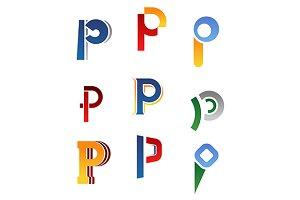 Alphabet letter P