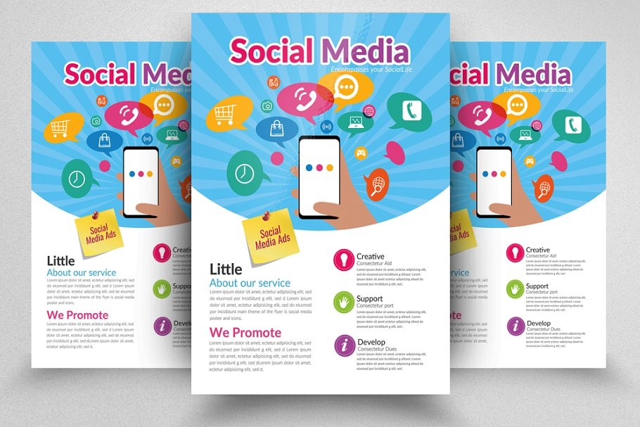 Social Media Flyer Template in Flyer Templates - product preview 8