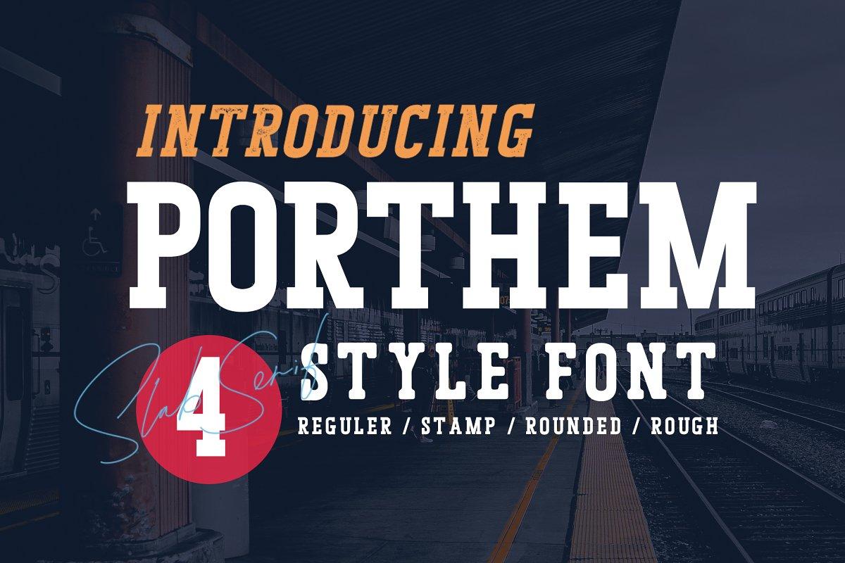 Porthem | All Caps Font