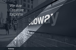 SUBWAY - One Page Wordpress Theme