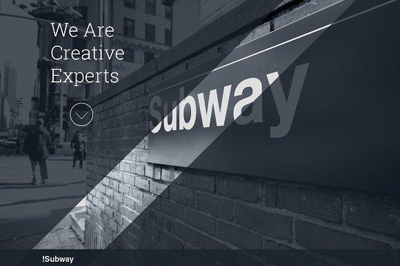 SUBWAY - One Page Wordpress Theme
