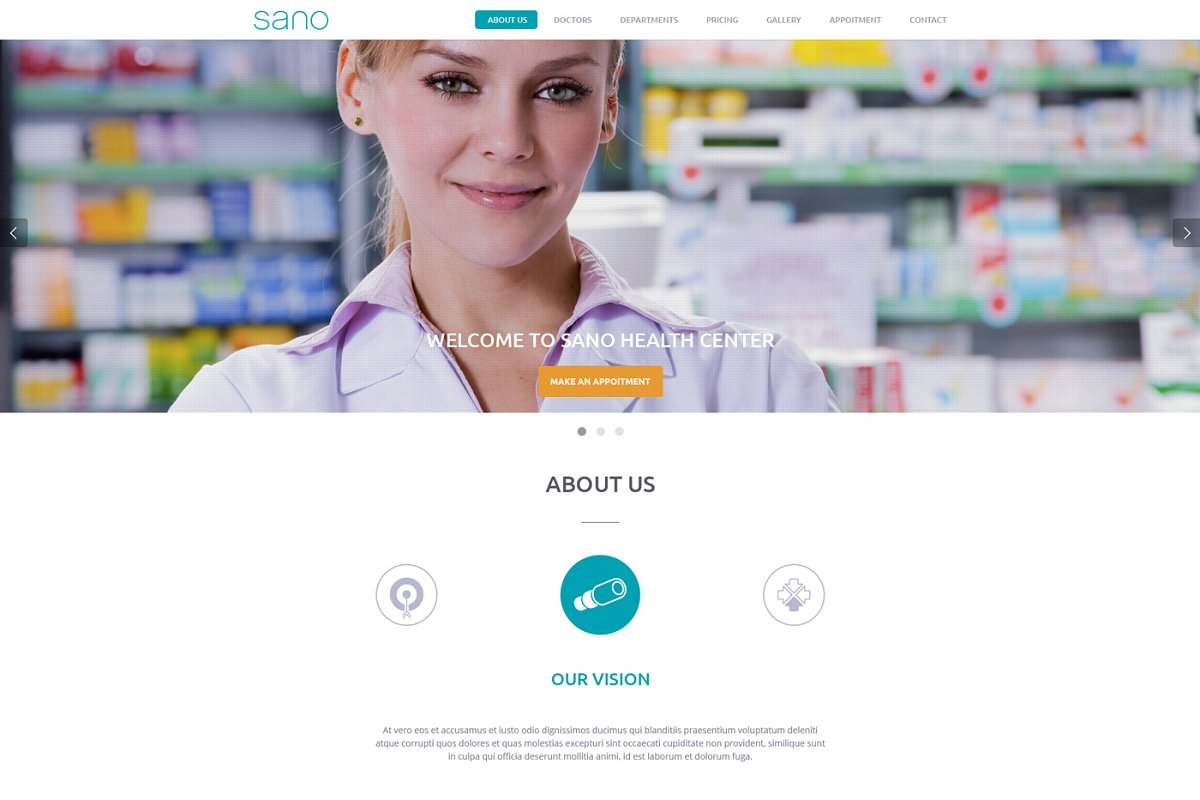 SANO - Wordpress One Page Theme