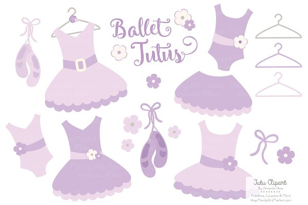 Lavender Ballet Tutus Clipart
