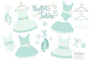 Mint Ballet Tutus Clipart