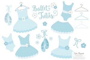 Soft Blue Ballet Tutus Clipart