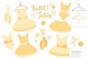 Sunshine Ballet Tutus Clipart