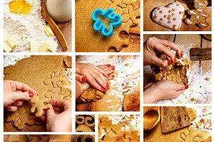 Preparing Gingerbread Cookies