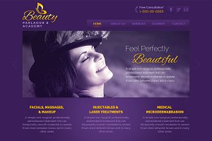 Beauty - Parlaour PSD Template