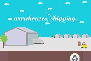 Shipping, hangar or warehouse.
