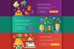Baby and Maternity Banners Set
