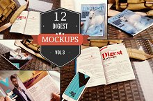 Digest-Sized Magazine Mockups Vol. 3