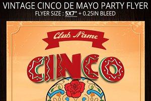 Vintage Cinco De Mayo Party Flyer