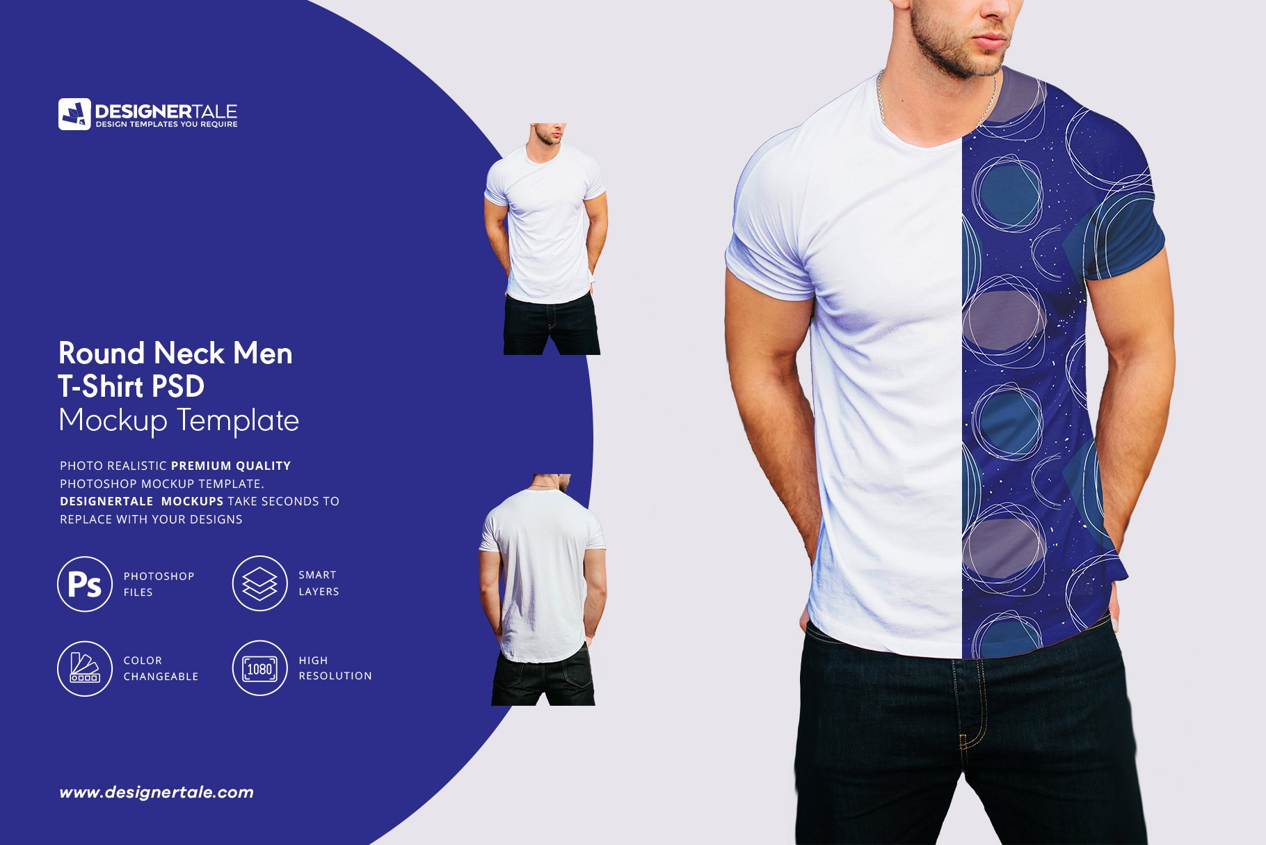 round neck men t shirt mockup psd template image preview 1