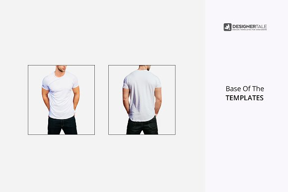 round neck men t shirt mockup psd template image preview 4