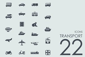 22 Transport icons